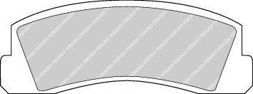 Гальмівні колодки, дискові  арт. FDB195
