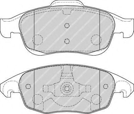 Гальмівні колодки дискові перед. Citroen C4 Picasso 1.8i 16V/1.6HDI 07- FERODO FDB1971