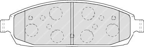 Колодки гальмівні дискові  арт. FDB4002