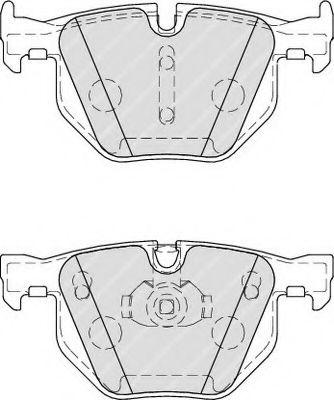 Гальмівні колодки дискові зад. BMW 3 (E90, E91, E92),X1 (E84) 2.0-3.0 05- /X5 (E70) 3.0d 08- FERODO FDB4067