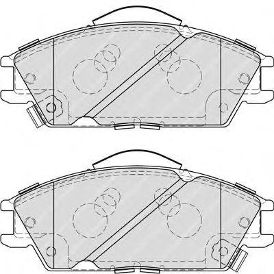 Колодки гальмівні дискові  арт. FDB4076