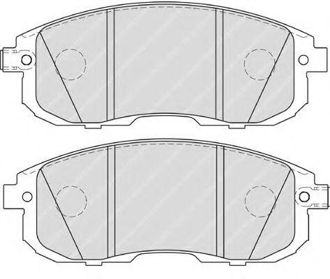 Гальмівні колодки дискові перед. Nissan Tiida 1.5-1.8 07-/Juke 10- FERODO FDB4148