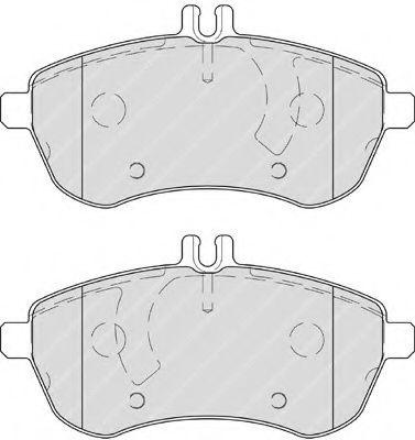 Гальмівні колодки дискові перед. MB C204 C 200 CDI 07-/(S212) 09- FERODO FDB4199