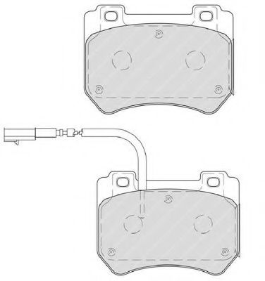 Тормозные колодки Ferodo  арт. FDB4206