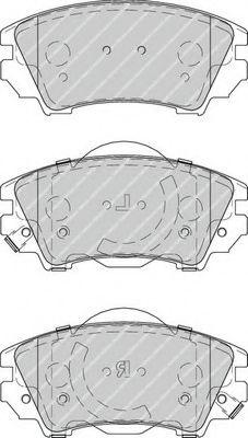 Колодки тормозные передние Opel Astra J 09-/Insignia 08- (Mando)  арт. FDB4208