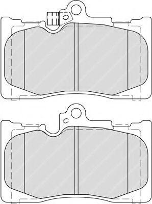 Гальмівні колодки перед. Lexus GS 05- FERODO FDB4216