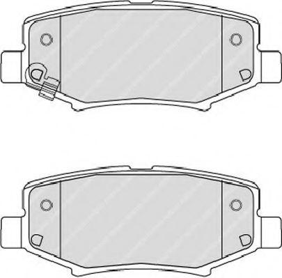 Гальмівні колодки дискові зад. Dodge Nitro 07-08/08- FERODO FDB4239