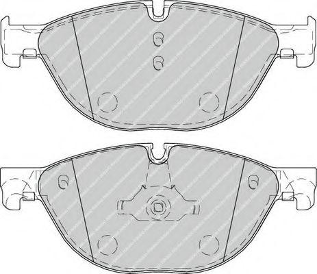 Гальмівні колодки перед. BMW 535i/550i/535d 10-  FERODO FDB4285