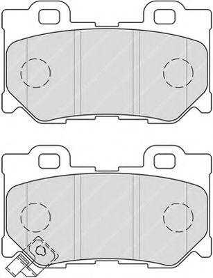 Комплект тормозных колодок, дисковый тормоз  арт. FDB4312