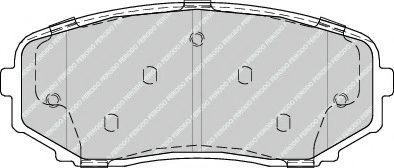 Гальмівні колодки, дискові FERODO FDB4365