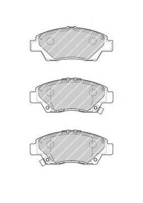 Гальмівні колодки перед. Honda City/CR-Z,/Jazz/ Insight 1.2/1.3/1.4 07.08-  FERODO FDB4404