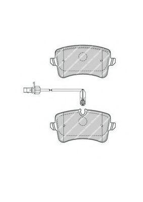 Гальмівні колодки дискові зад. Audi A6/A6/S6 IV (4G2,C7) 10- FERODO FDB4410