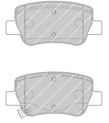 Гальмівні колодки, дискові FERODO FDB4411
