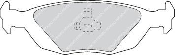 Комплект тормозных колодок, дисковый тормоз  арт. FDB506