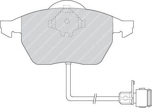 Гальмівні колодки перед. Audi 100 91-94, A6 94-97 FERODO FDB590