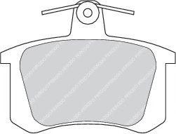 Комплект тормозных колодок, дисковый тормоз  арт. FDB596