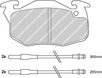 Brake pad set ROULUNDSBRAKING 769481