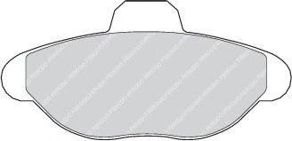 Комплект тормозных колодок, дисковый тормоз  арт. FDB749