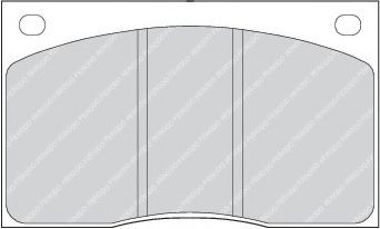 Тормозные колодки дисковые  арт. FDB817