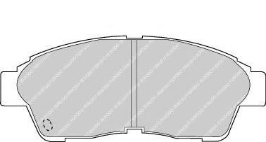 Гальмівні колодки дискові перед.Toyota Corolla/Camry/Ipsum/Picnic/RAV 4/Previa/Funcruiser/Celica/Carina/Corona (90-02) FERODO FDB867