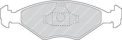 Колодки тормозные дисковые, к-кт.  арт. FDB896
