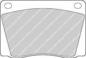 Комплект тормозных колодок, дисковый тормоз  арт. FDB9