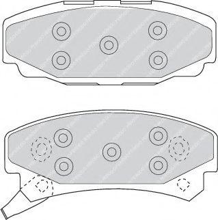 Тормозные колодки дисковые  арт. FDB921