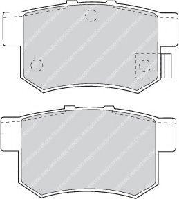 Колодки тормозные задние Honda Civic 98-/Accord 90-03 (Akebono) (47,8x88,9x14,5)  арт. FDB956