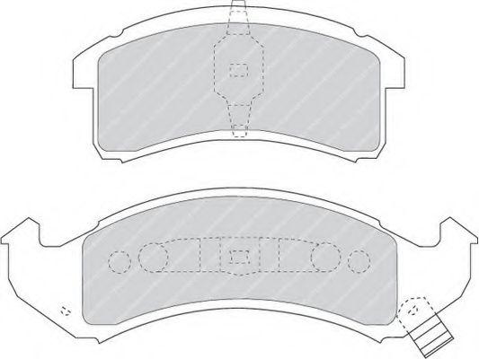 Тормозные колодки дисковые  арт. FDB975