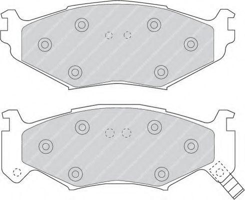 Колодки тормозные дисковые, к-кт.  арт. FDB977