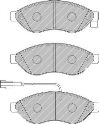 Гальмівні колодки дискові перед. Citroen Jumper/ Fiat Ducato/ Peugeot Boxer 2.0-3.0Hdi 04.06- FERODO FVR1923