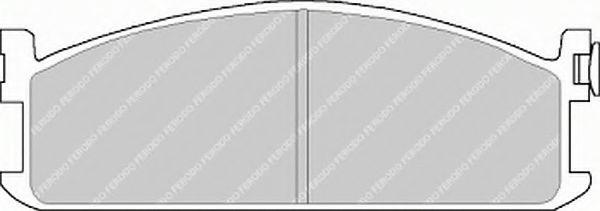 Комплект тормозных колодок, дисковый тормоз  арт. FVR418