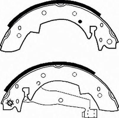 Гальмівні колодки, барабанні FERODO FSB173