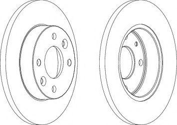 Тормозной диск Ferodo  арт. DDF055