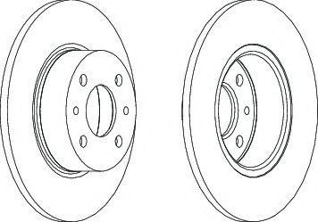 Тормозной диск  арт. DDF066