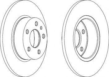 Тормозной диск  арт. DDF067