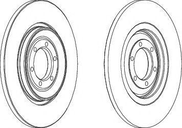 Тормозной диск  арт. DDF090