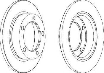 Тормозной диск  арт. DDF092