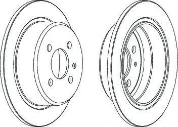 Гальмівний диск FERODO арт. DDF093