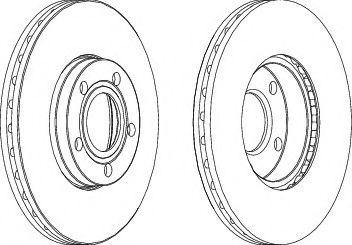 диск гальмівний FERODO DDF1014