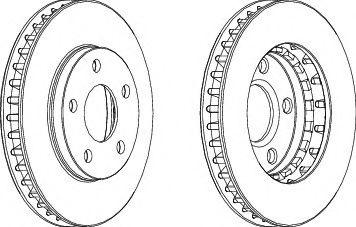 Тормозной диск  арт. DDF1030
