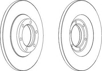 Тормозной диск  арт. DDF1038