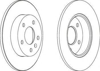 Тормозной диск FERODO DDF1044