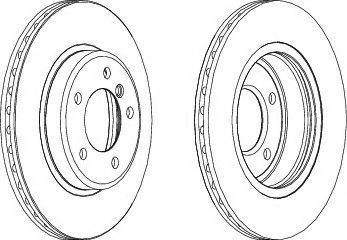 Тормозной диск  арт. DDF1066