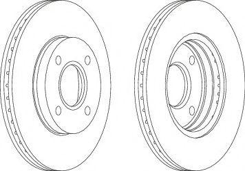 Тормозной диск Ferodo  арт. DDF1072