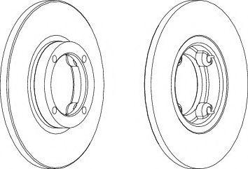 Гальмівний диск  арт. DDF1076