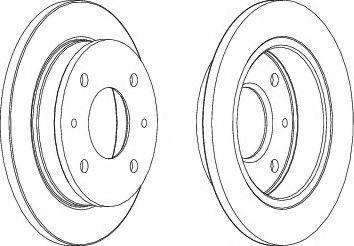Тормозной диск  арт. DDF1077