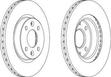 Тормозной диск Ferodo  арт. DDF1096