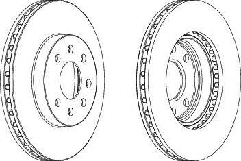 Тормозной диск Ferodo NUBIRA 1,6-2,0I 97-00  арт. DDF1097