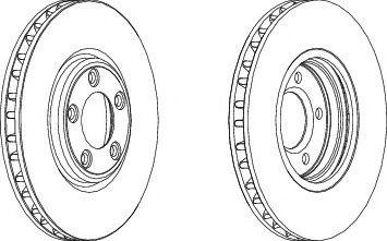 Тормозной диск  арт. DDF1107